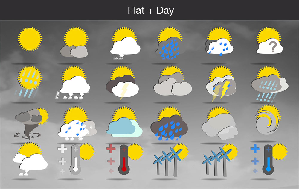 Weather icons flat day