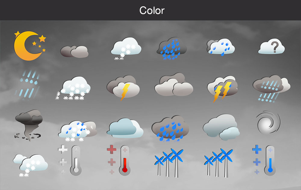 Weather icons color