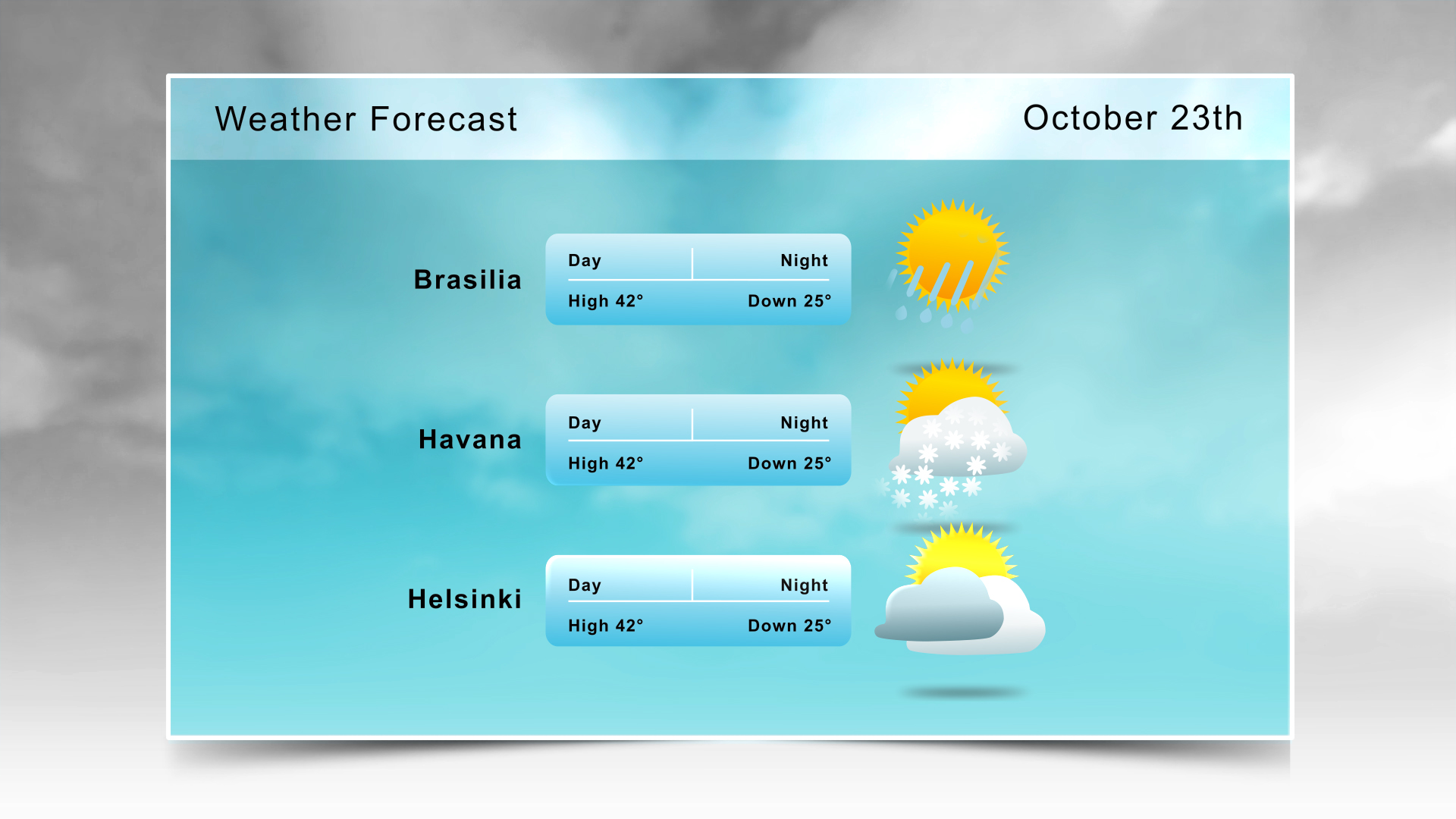 Weather Forecast Template 01