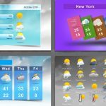 Weather icons templates after effects and premiere pro