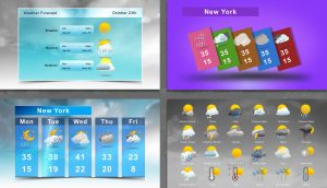 Animated Weather Icons Pack with Forecast Templates