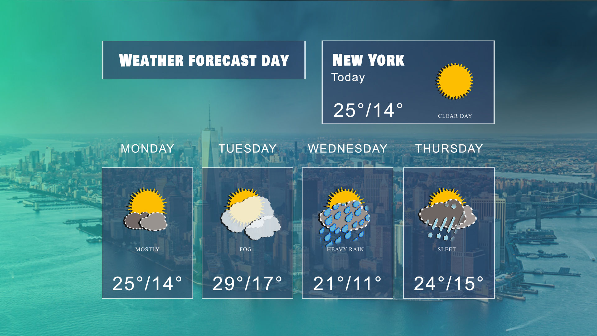 Weather Forecast Templates 05